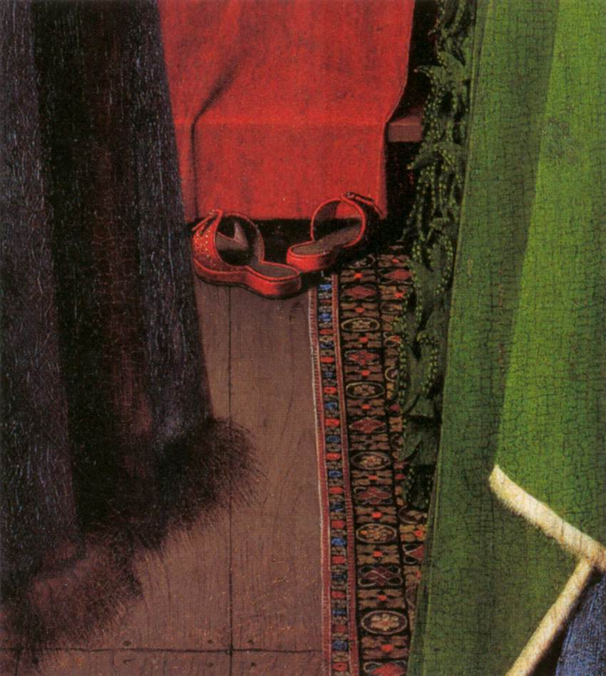 an analysis of the artwork giovanni arnolfini and his bride Jan van eyck, the arnolfini portrait the artist witnessing, the someone suggested that that was one of the items that the arnolfini's actually imported a.