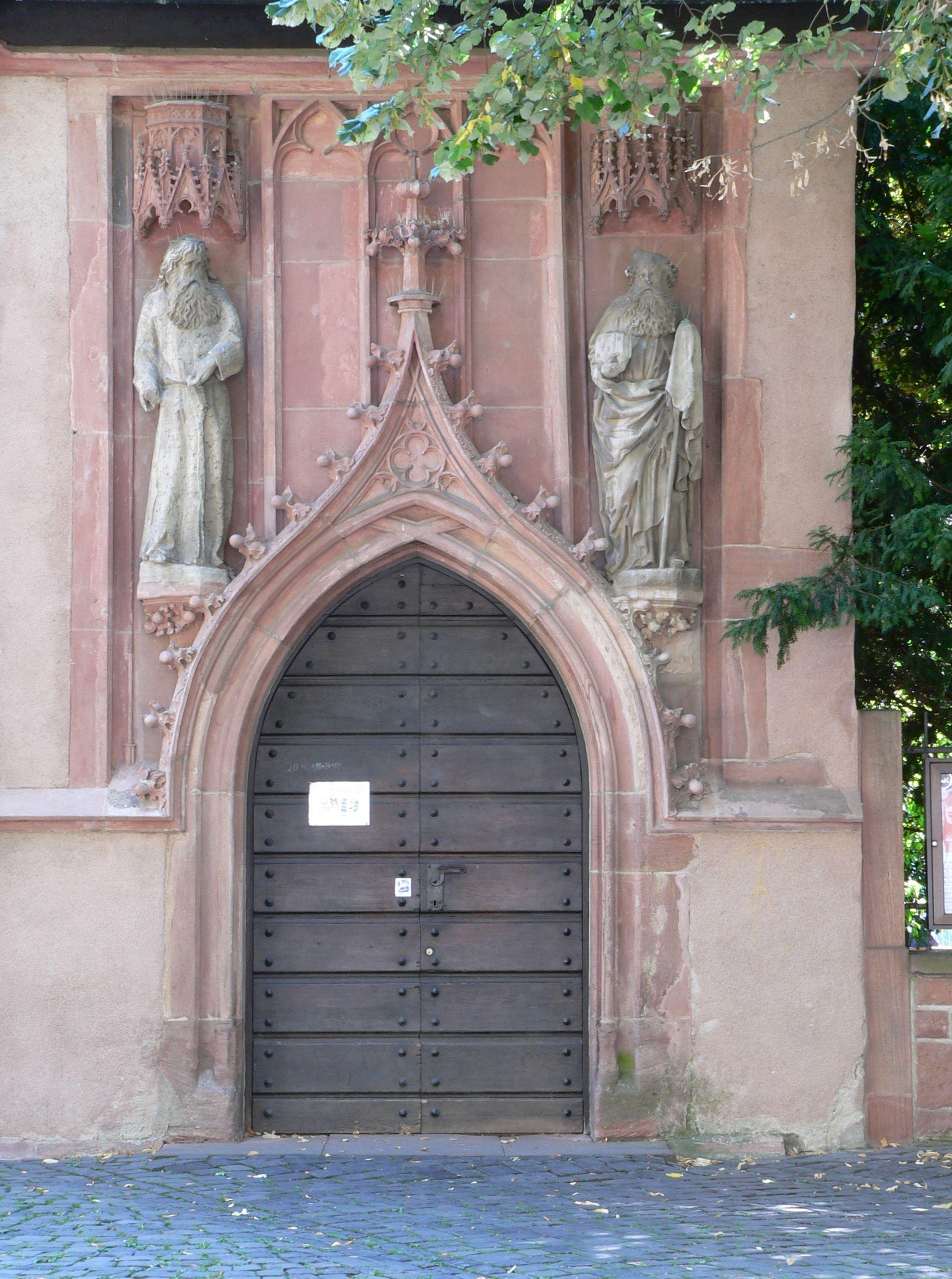 Cеверный портал церкви священномученика Иустина со святыми Павлом Фивейским и Антонием Великим