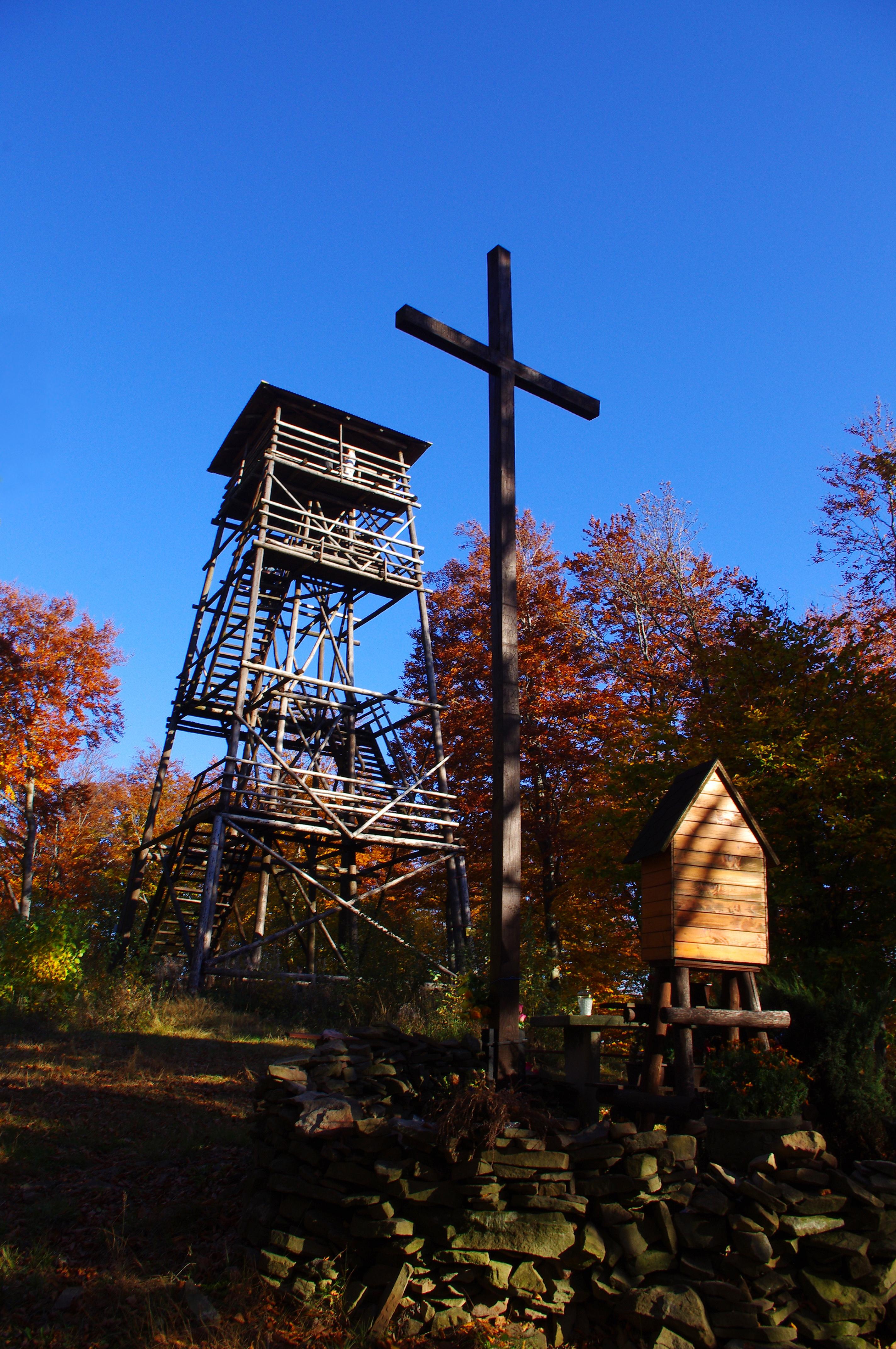 Nieistniejąca już wieża widokowa na Księżej Górze