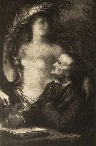 Die Muse und Wagner - Fantin-Latour