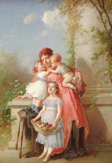 File lanfant mother and wikimedia commons for Paintings of toddlers