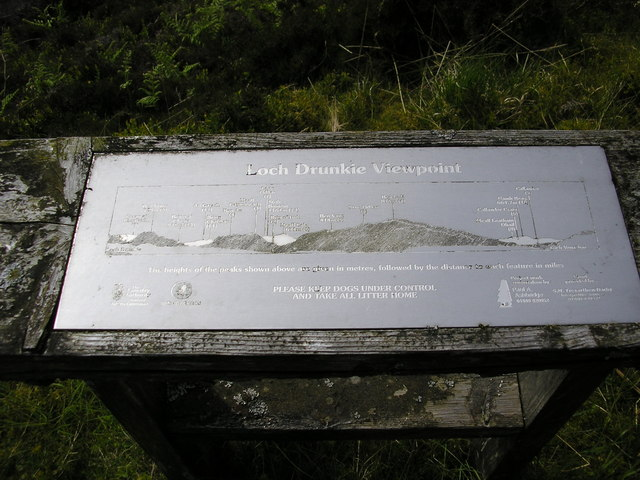 Loch Drunkie view indicator - geograph.org.uk - 1607599
