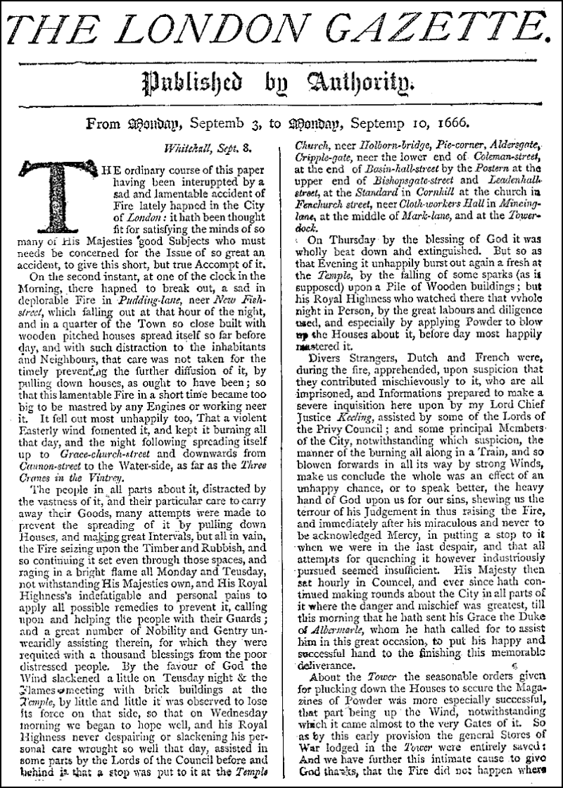 the london gazette - wikipedia