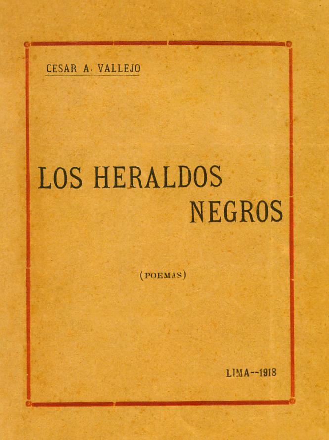 Portada de la edición príncipe de Los heraldos negros.