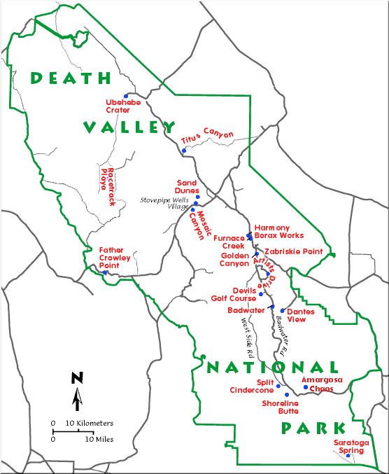 Death Valley Maps File:map of Death Valley np