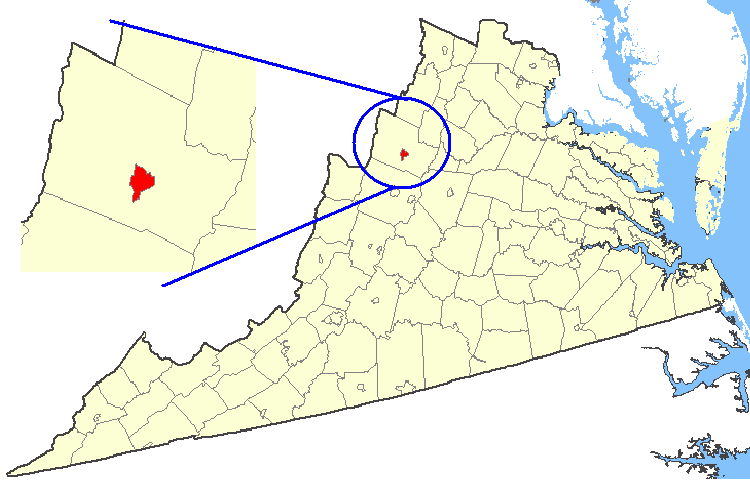 FileMap Showing Harrisonburg City Virginiapng