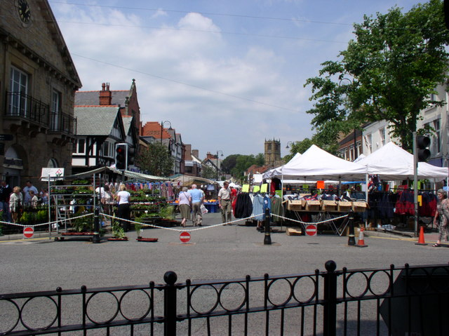 Market Day in Mold - geograph.org.uk - 194333