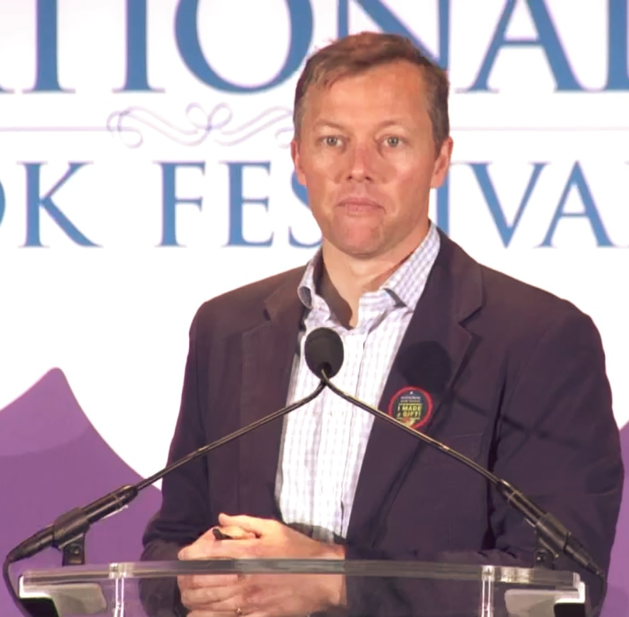 Matthew Desmond discusses ''[[Evicted: Poverty and Profit in the American City]]'' at the 2017 [[National Book Festival]]