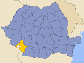 Administrative map of Руминия with Меҳединтс county highlighted