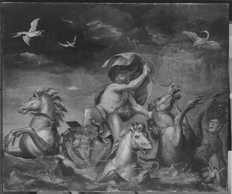 Neptun auf dem Meere (zugeschrieben)