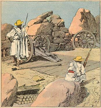 File:Merina artillery in ambush Henri Gallichet 1850 1923 Louis Charles Bombled 1862-1927 La Guerre a Madagascar 1896.jpg