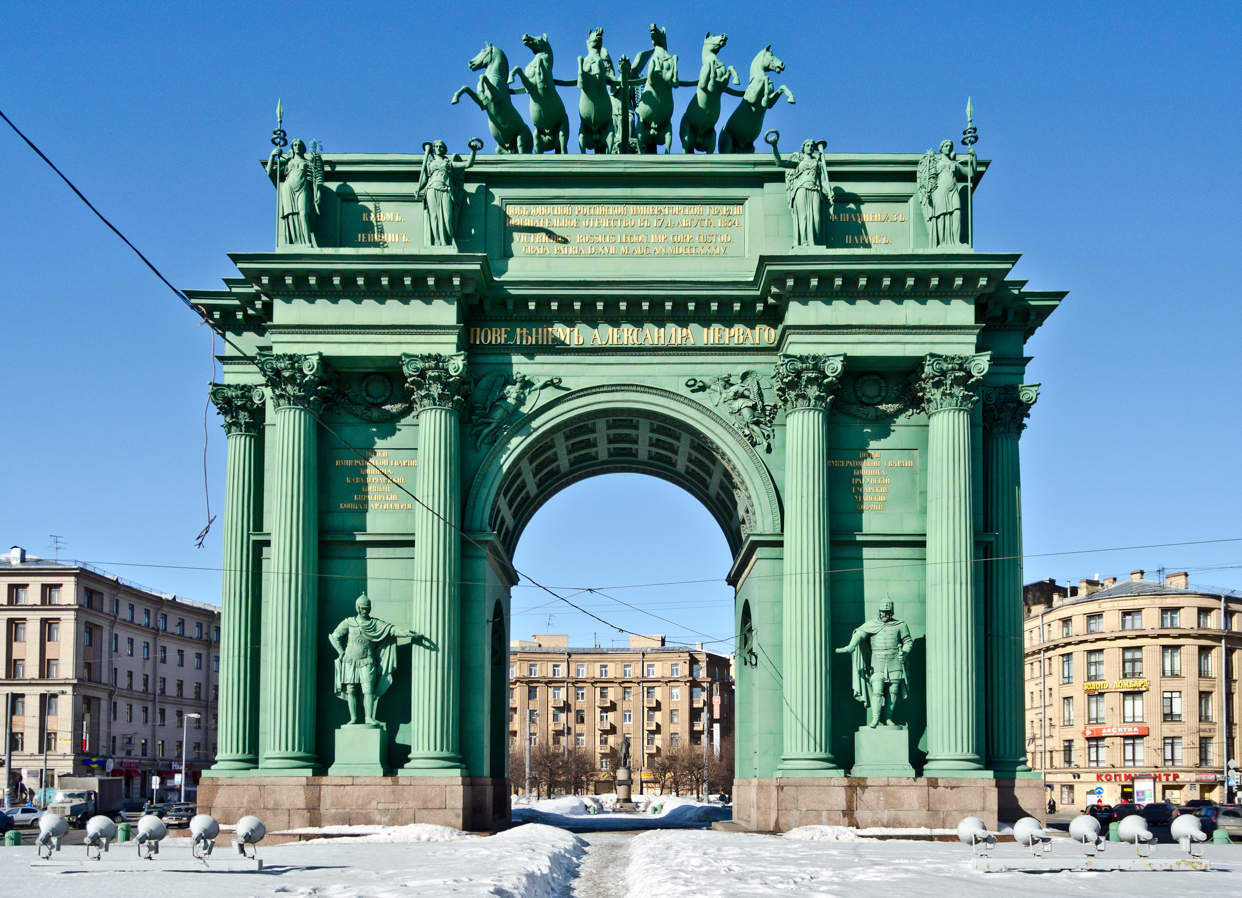 Narva Triumphal Gate in St. Petersburg 89