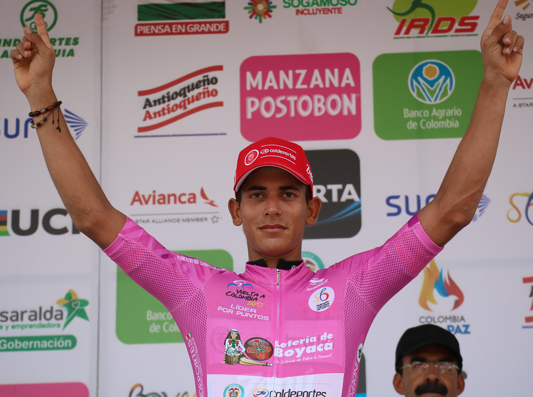 Campeones de Regularidad, Puntos, Metas volantes UCI 2017 Nelson_Soto_etapa_3_Vuelta_a_Colombia_2017