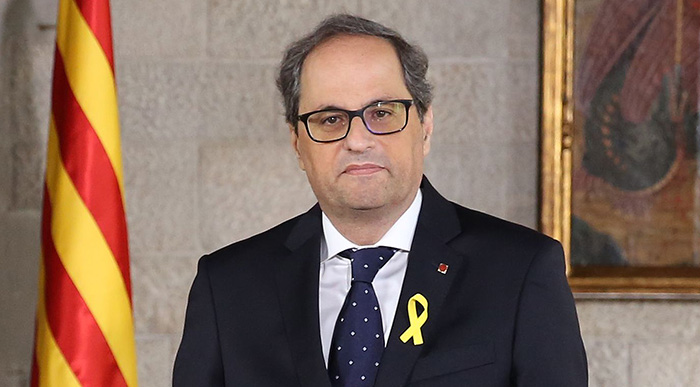 Official photo of Quim Torra