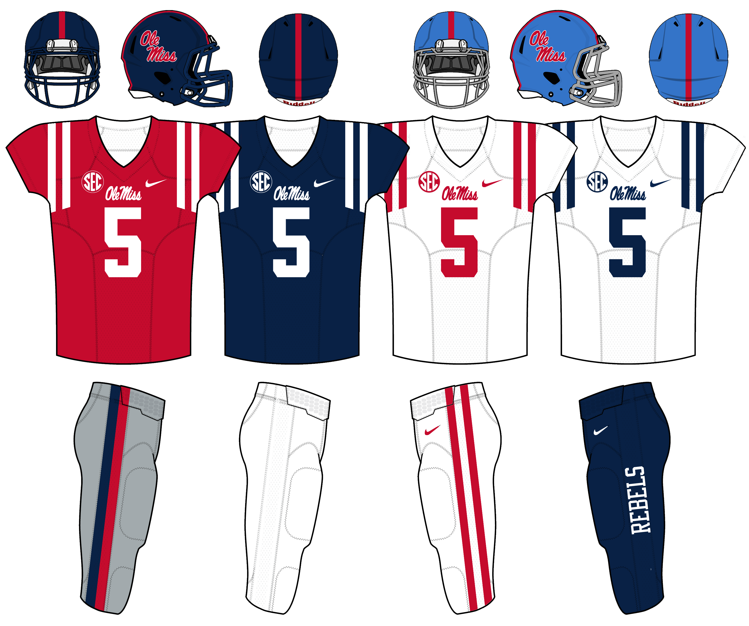 size 40 a7d1b f0df2 File:Ole Miss Football Uniforms as of October 5, 2015.png ...