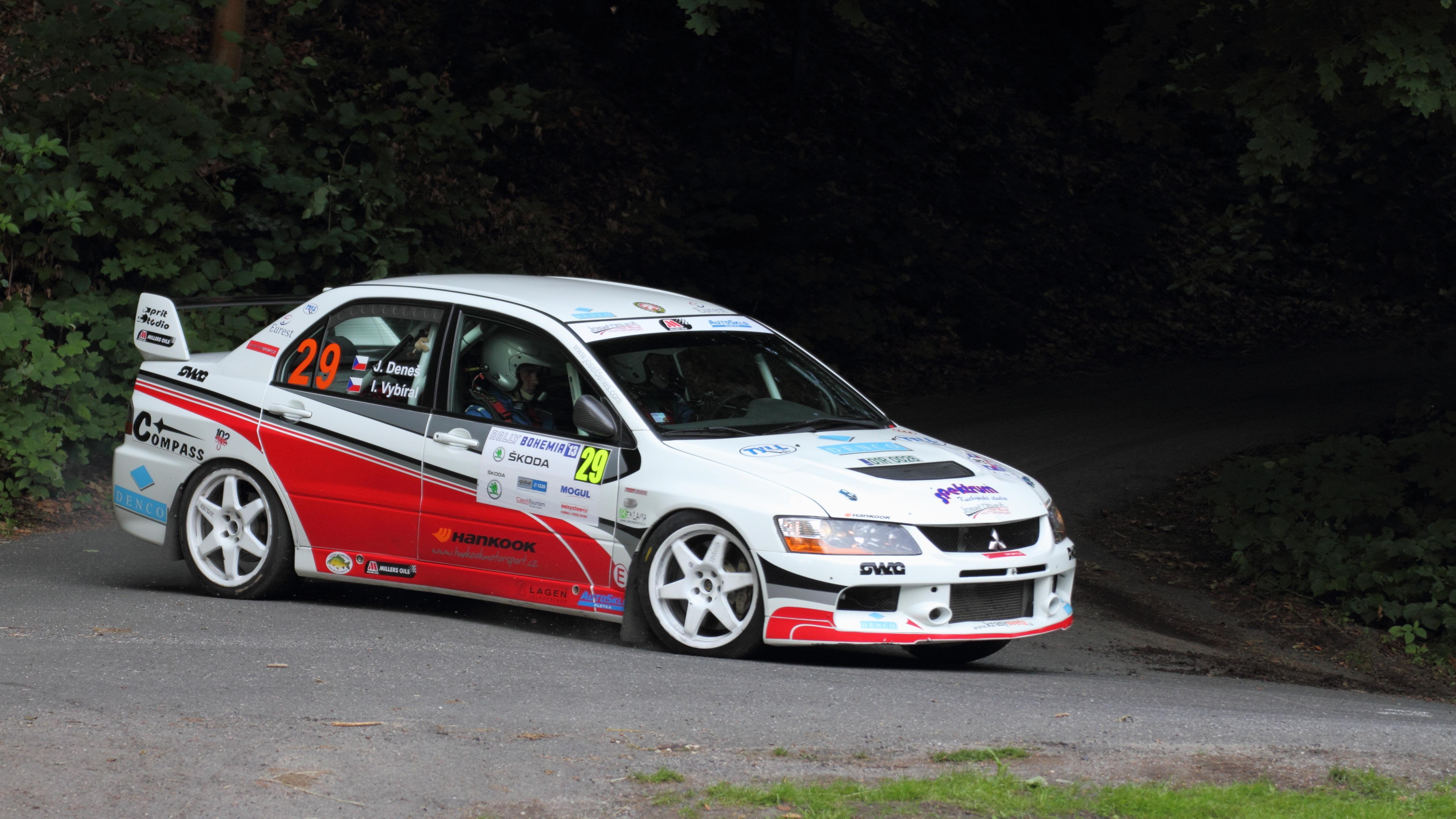 File:Rally Bohemia 2013 - Deneš, Mitsubishi Lancer Evo IX.JPG - Wikimedia Commons