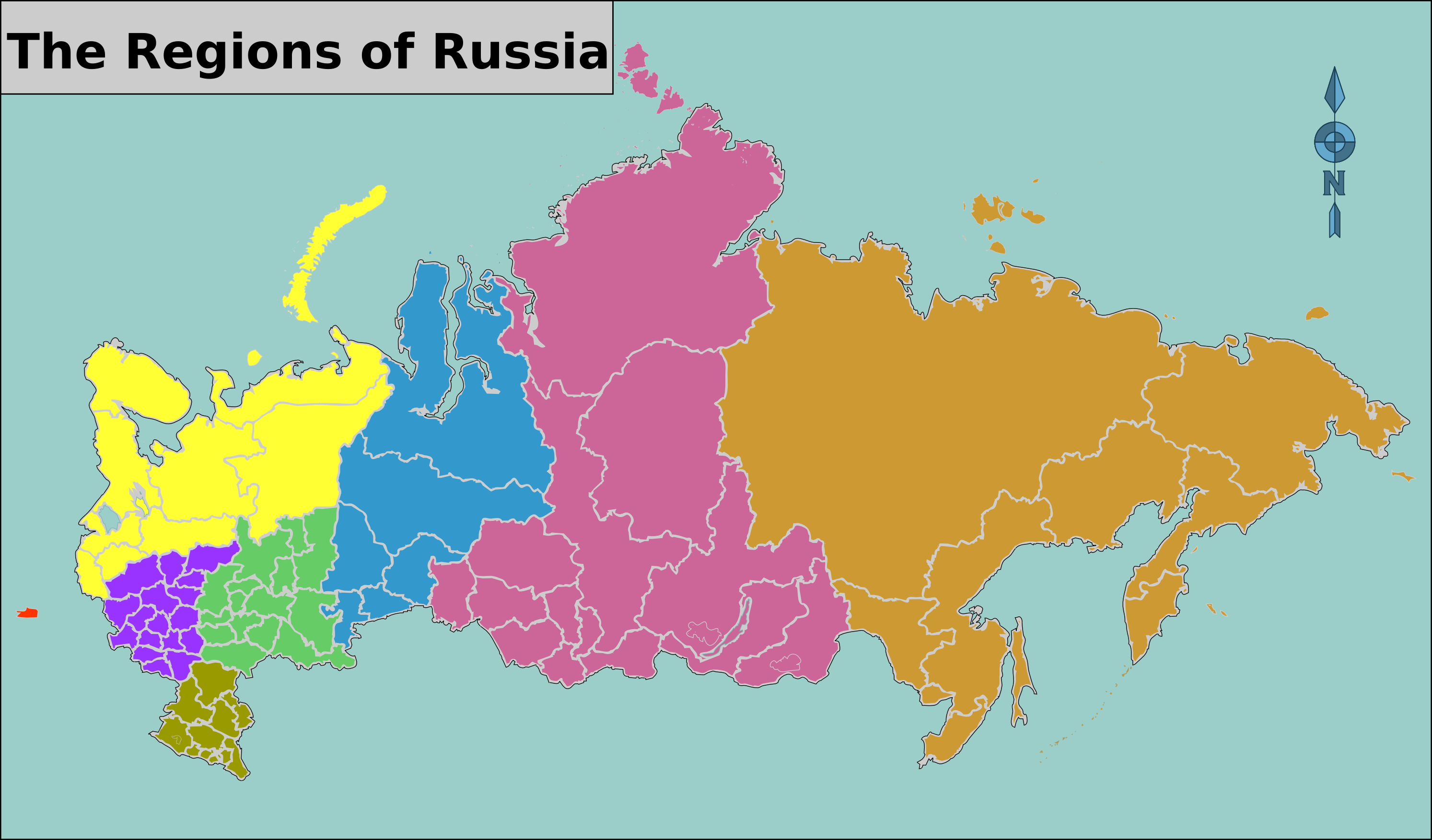 regions of russia map