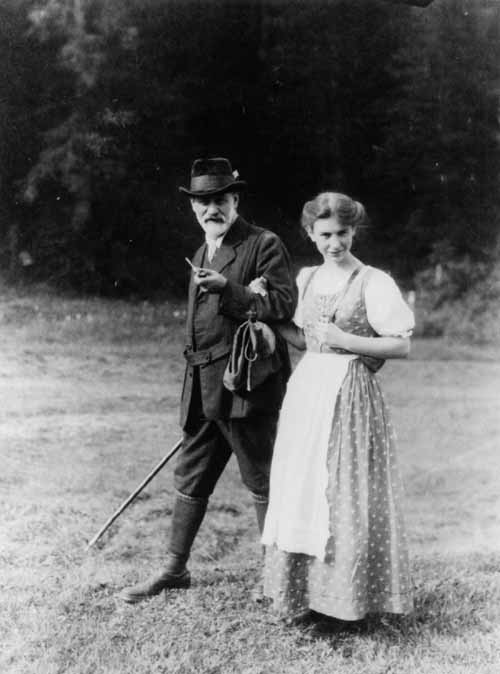 English: Sigmund and his daughter Anna Freud N...