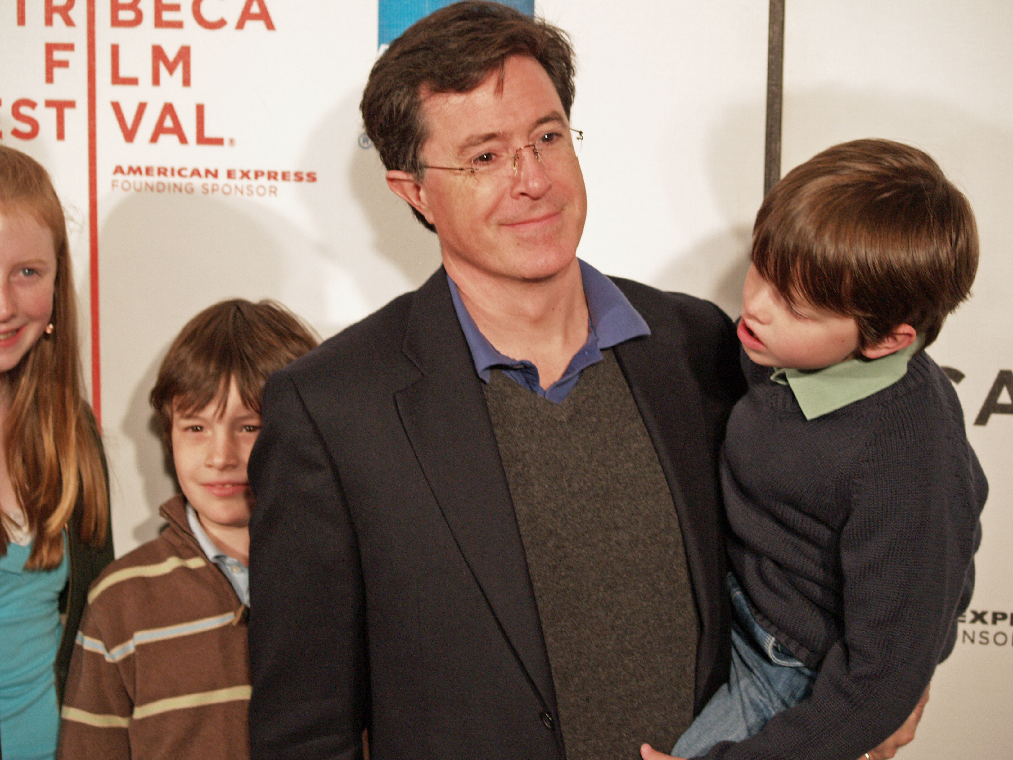 File:Stephen Colbert and sons 2 by David Shankbone jpg - Wikimedia
