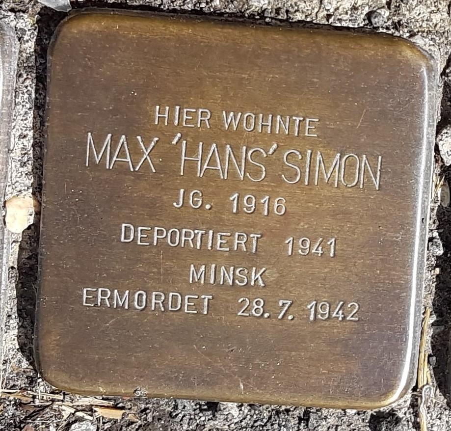 Stolperstein von Max Simon