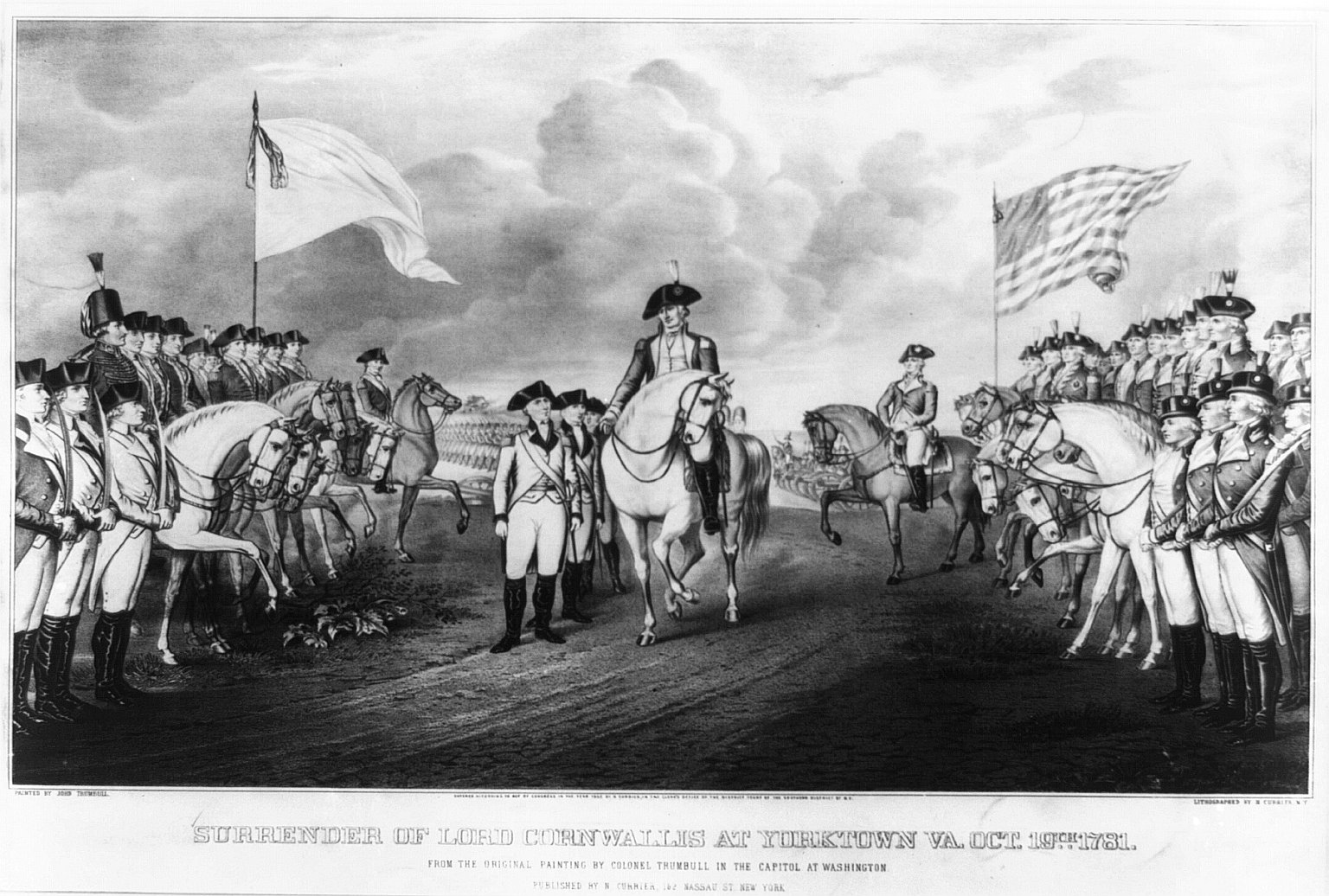 an overview of the surrender of cornwallis at yorktown in virginia Yorktown, virginia october 19, 1781 cornwallis' surrender ended a disastrous southern campaign for the british army.