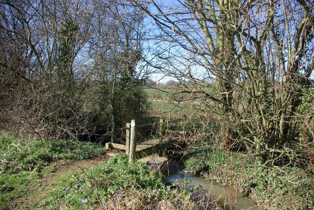 The Diamond Way crossing a stream - geograph.org.uk - 747060