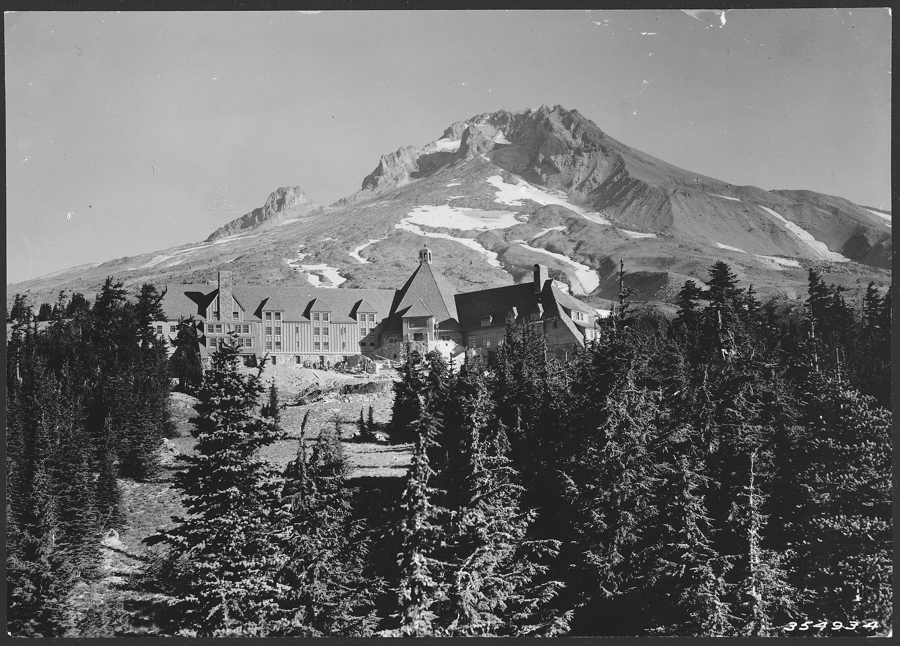 File:Timberline Lodge, built by WPA, Mount Hood National