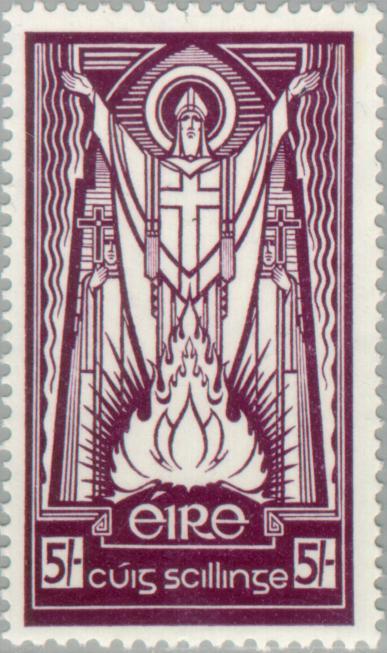 St. Patrick Irish stamp