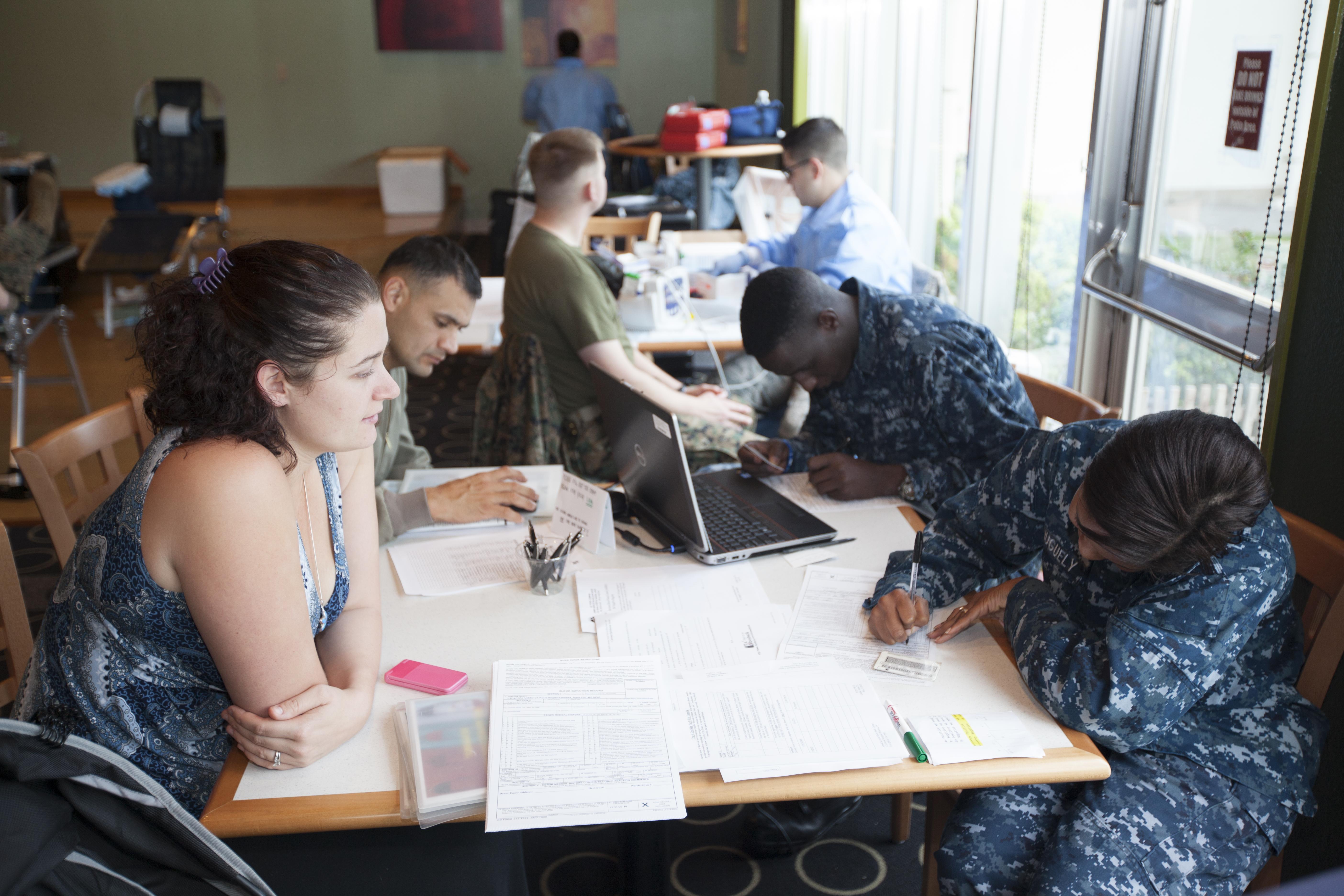 File:U.S. Navy Hospitalman Cherish Huguely, foreground right, with ...