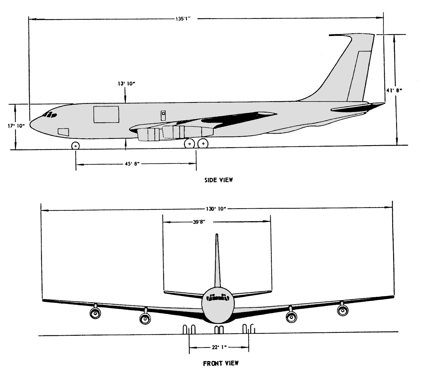 File Usaf Kc 135 Line Drawing Medium Res Png Wikimedia