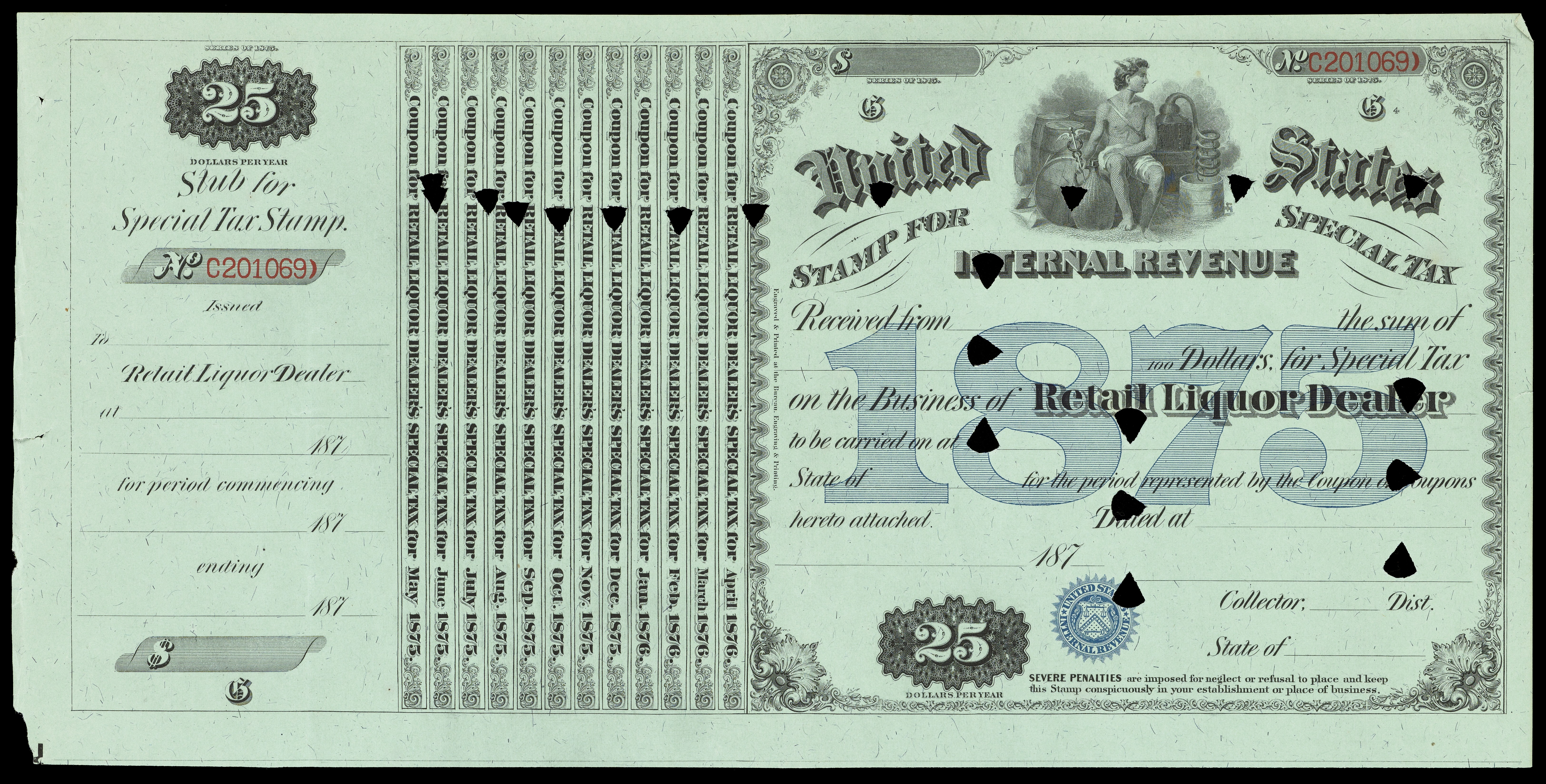 FileUnited States Internal Revenue Stamp For Special Tax Wellcome L0064705