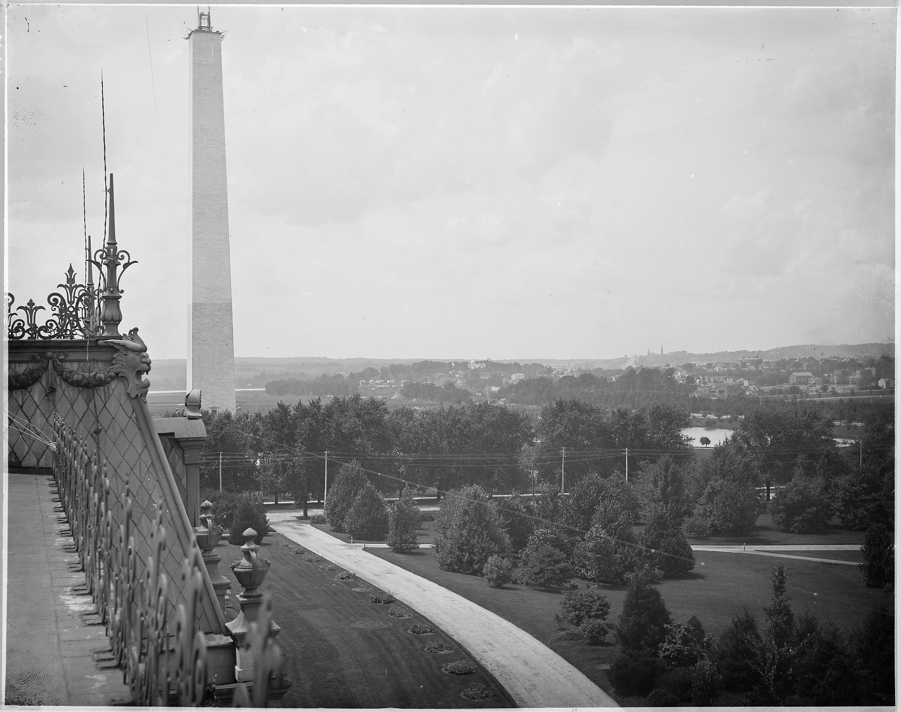 File View Of The Uncompleted Washington Monument Taken