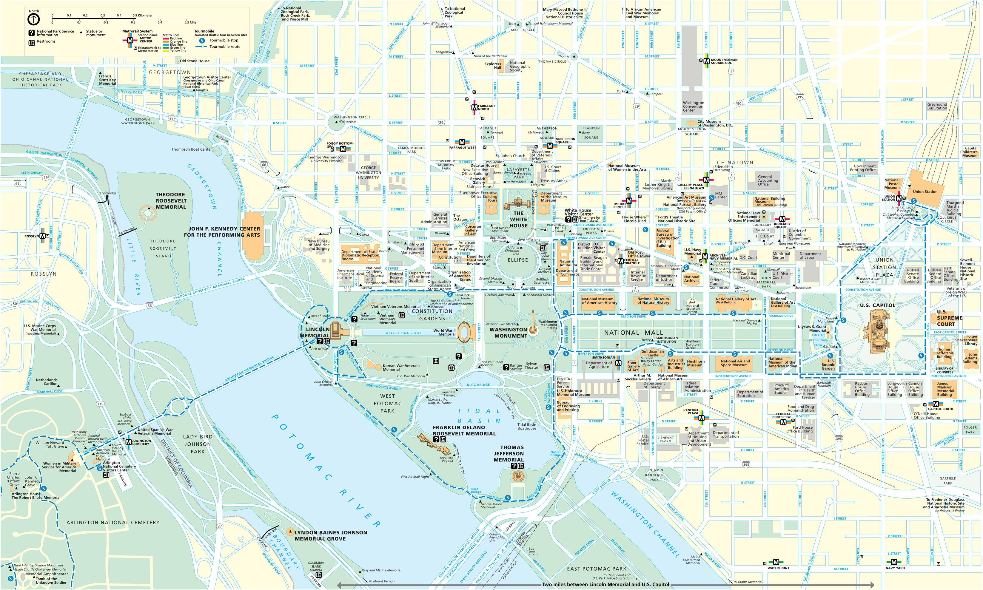 Tourist Maps Of Washington Dc – DC Tourist Map