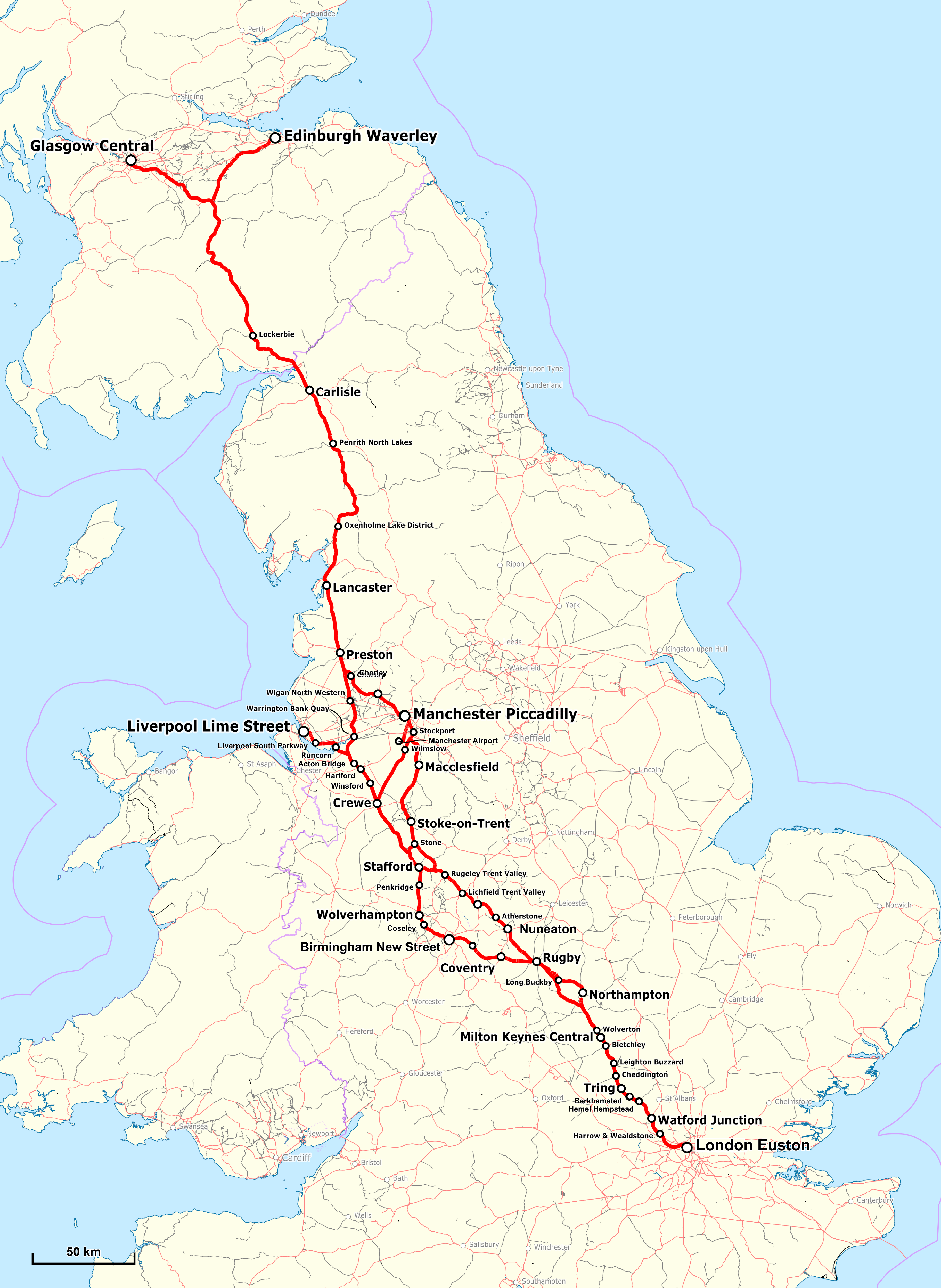 West Coast Mainline Map File:West Coast Main Line Map.png   Wikimedia Commons West Coast Mainline Map