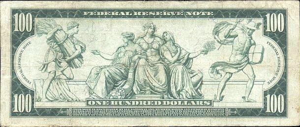 Duda con los Dolares USA 100_dollars_1914_reverse