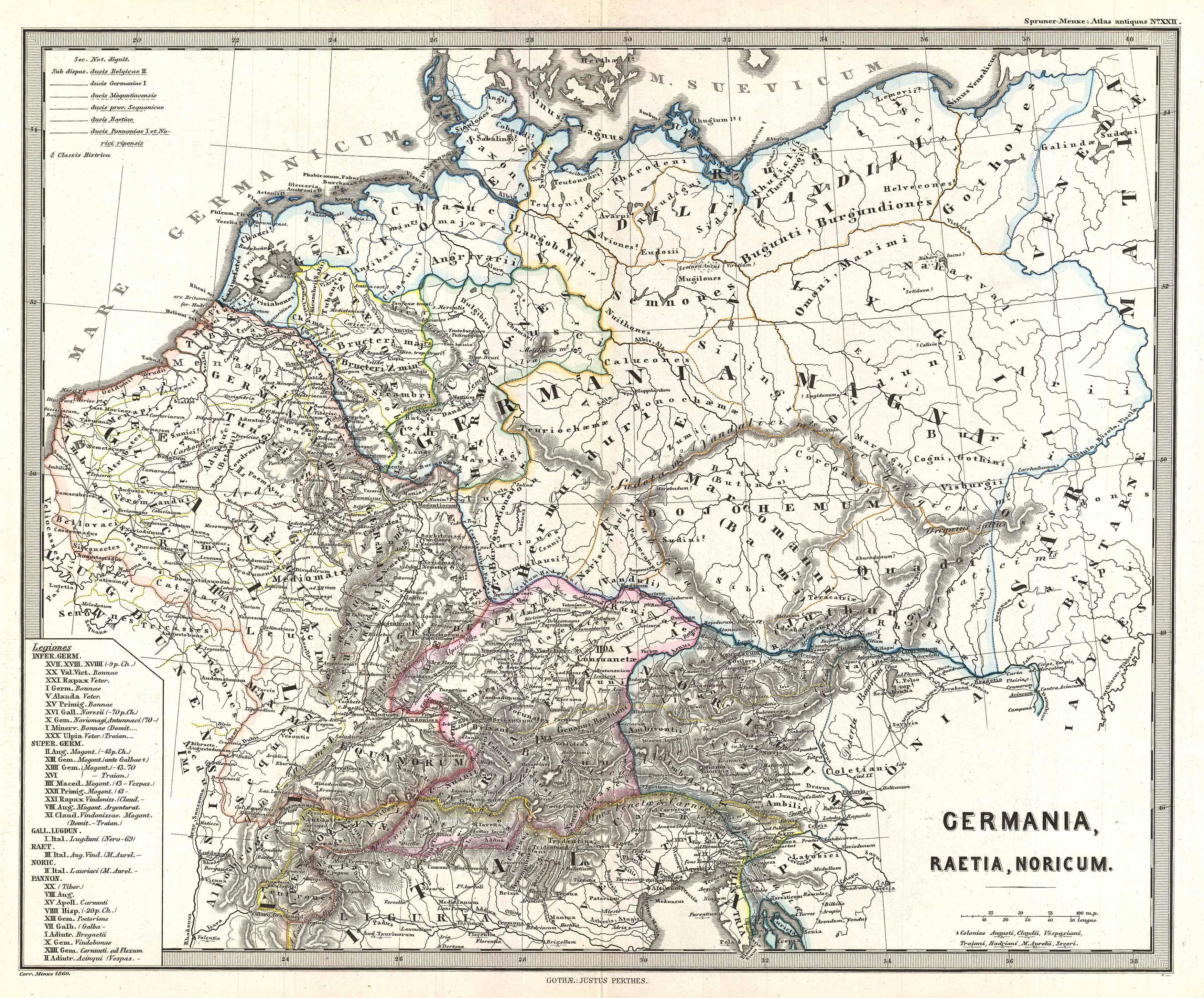 File:1865 Spruner Map of Germany in Antiquity ...