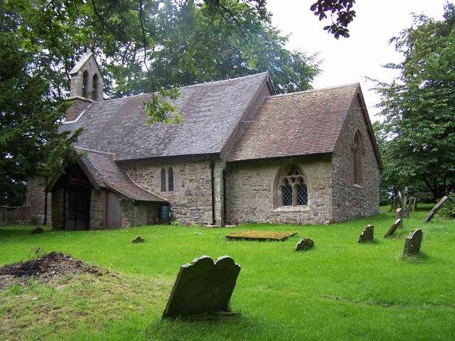 St Margaret's parish church, Abdon, Shropshire. Attribution: Geoff Pick
