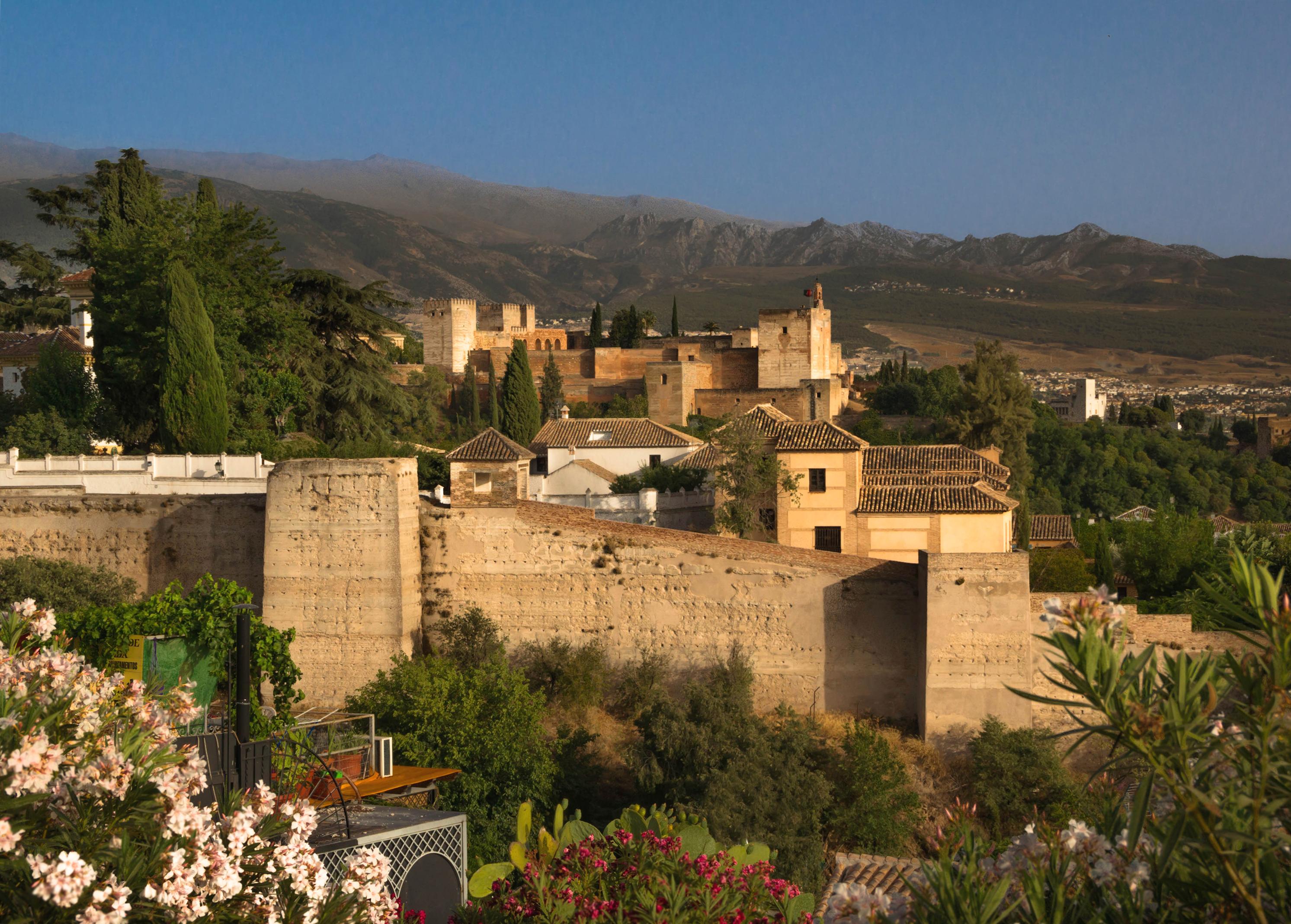 Granada Spain  City new picture : Alhambra Granada Spain Description Alcazaba Alhambra Granada Spain