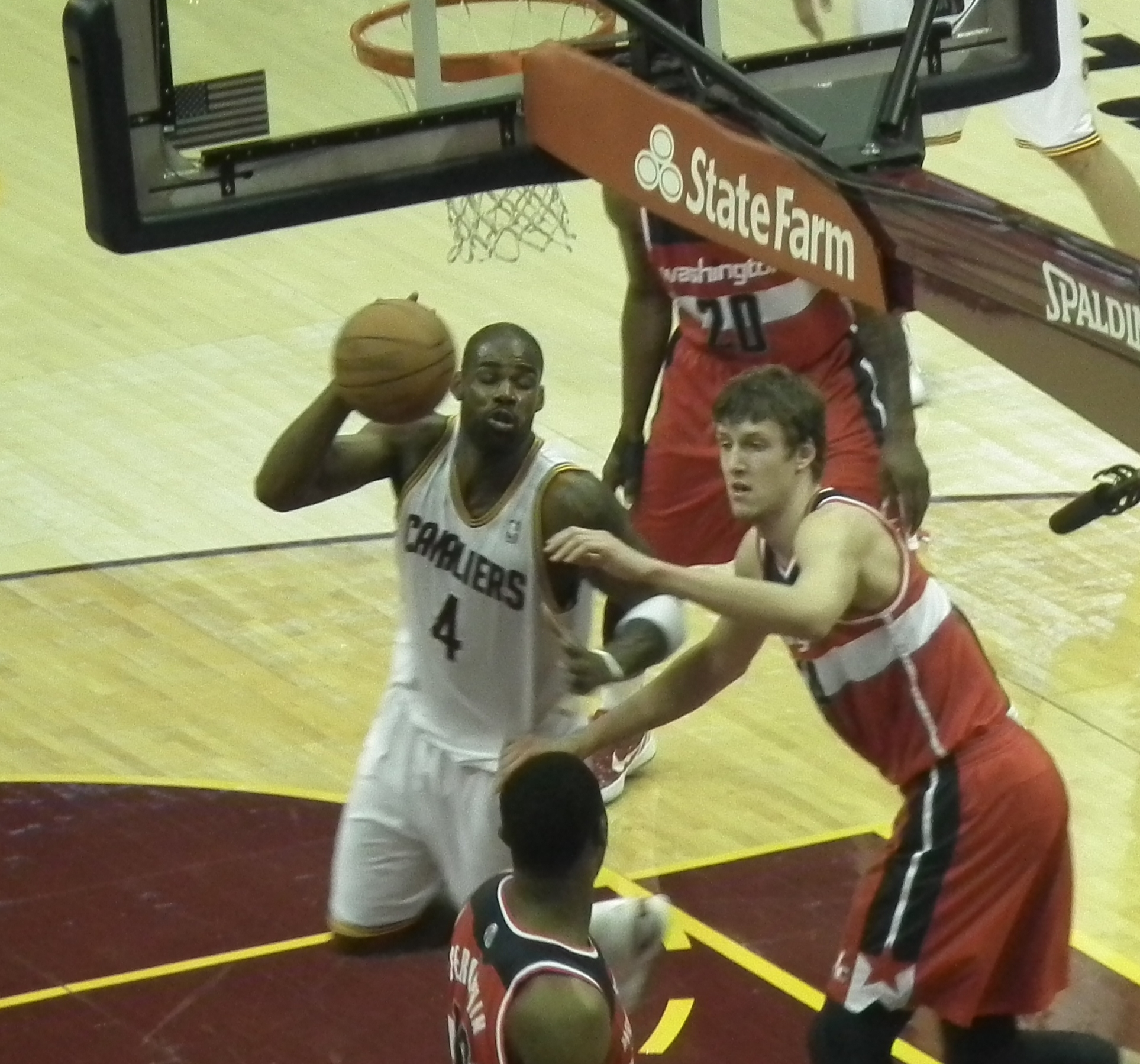 File Antawn Jamison fouled by Jan Vesely Wikimedia mons