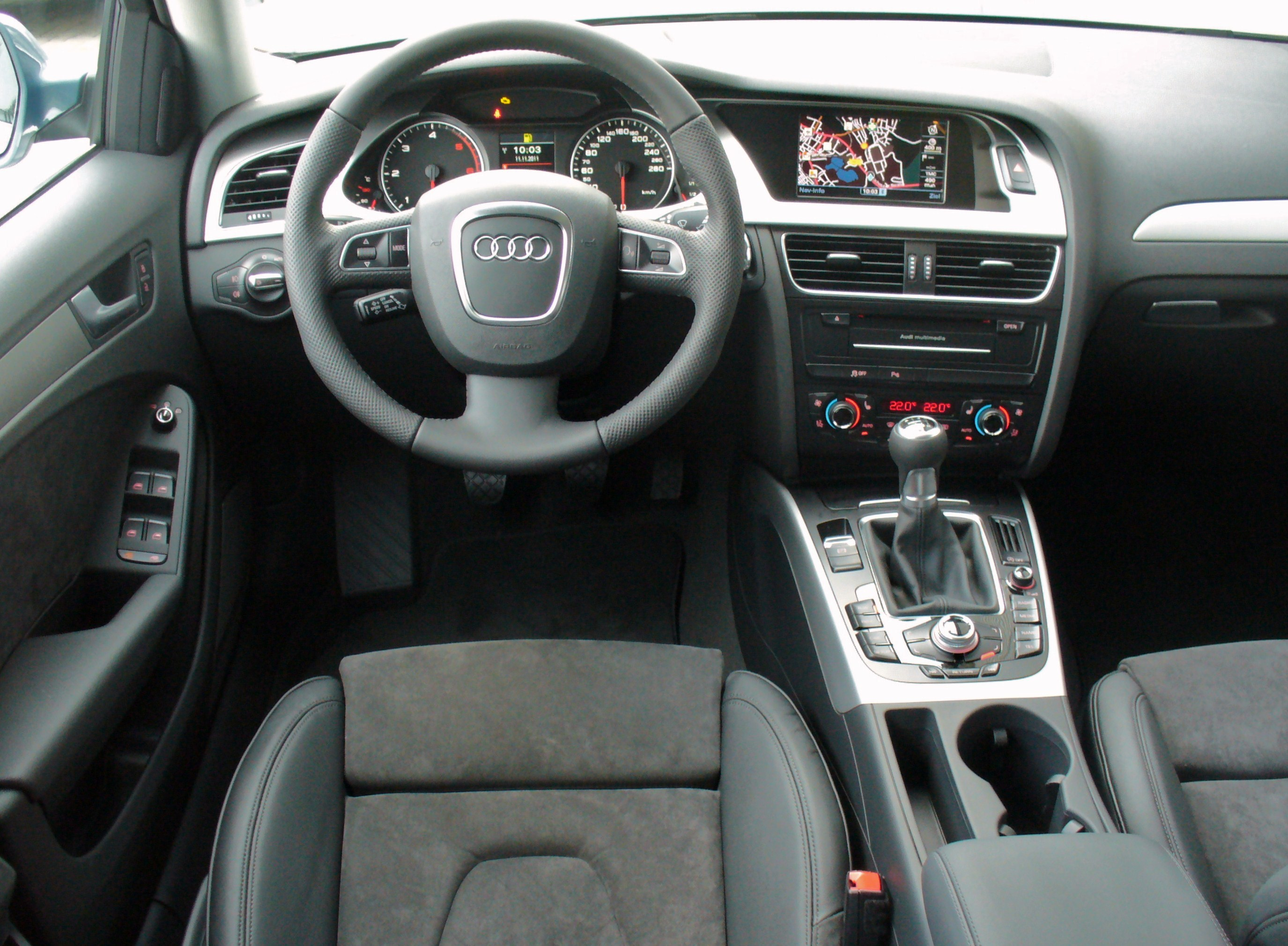 datei audi a4 avant ambiente 2 0 tdi quattro sph renblau interieur jpg wikipedia. Black Bedroom Furniture Sets. Home Design Ideas