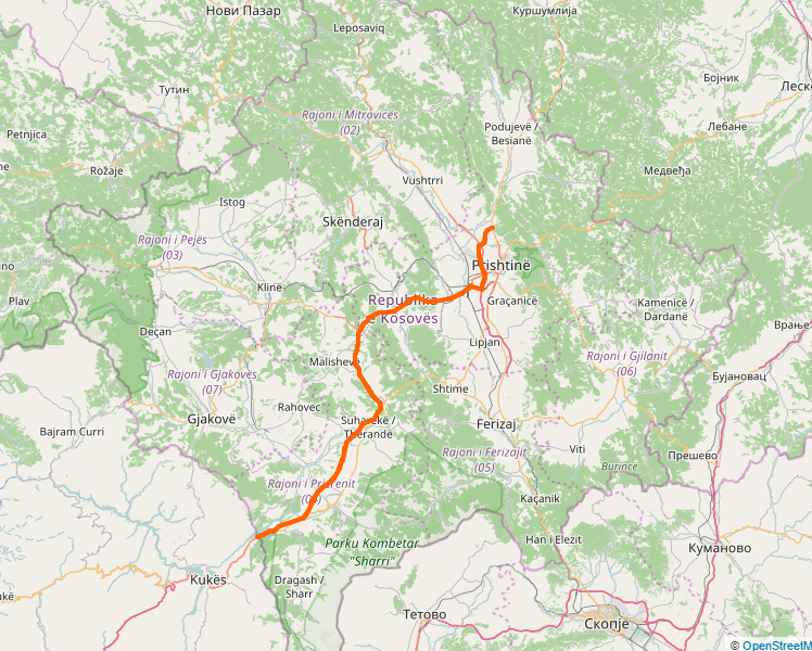 Peja Kosovo Karte.Autostrada R 7 Wikipedia