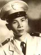 Cleancut young man wearing a white suit dress uniform and a uniform cap