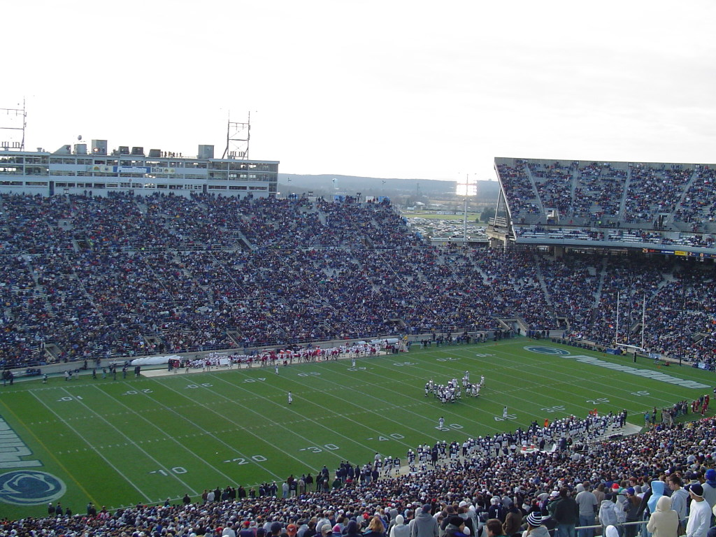 beaver football stadium The seventh expansion of beaver stadium, which boosts capacity to 106,537 seats, was unveiled against miami the stadium's capacity is the nation's second-largest, topped only by michigan stadium (107,501.
