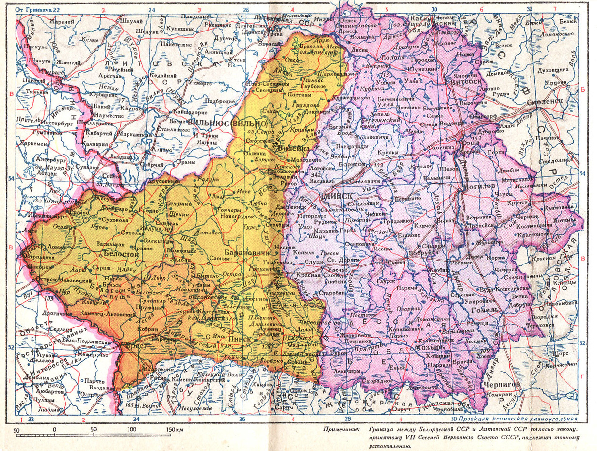 Poland Map 1940 Western Belorussia   Wikipedia