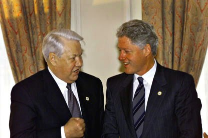 Imagini pentru bill clinton and boris eltin in istanbul 1999 photos