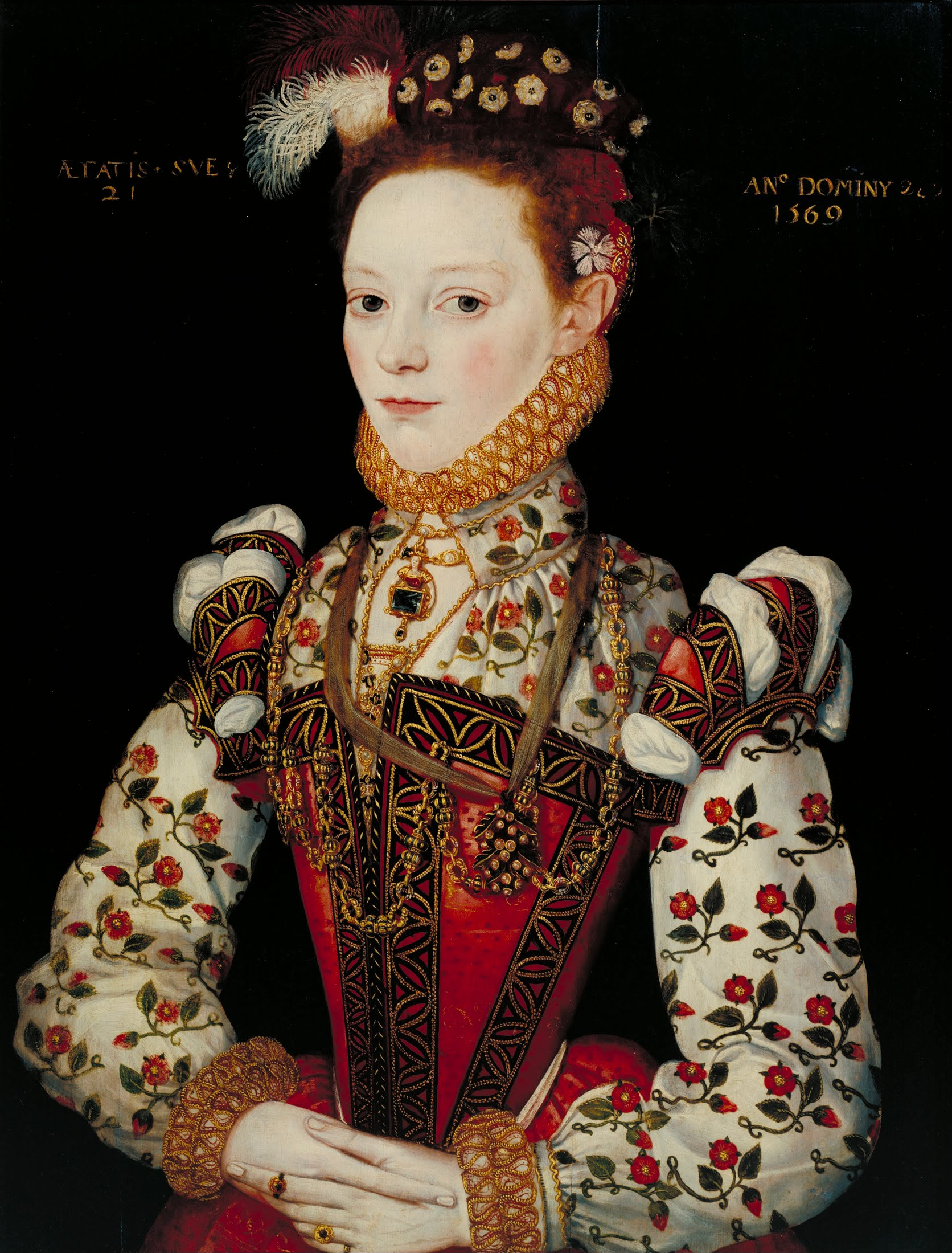 File british school 16th century a young lady aged 21 for British mode