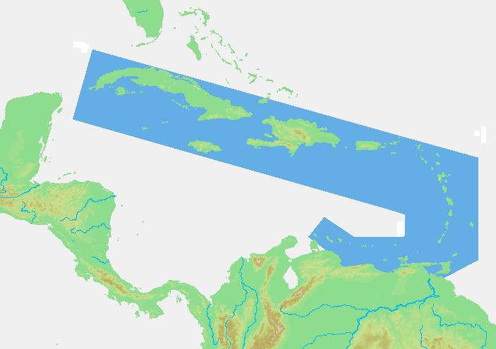 Lagekarten der Antillen