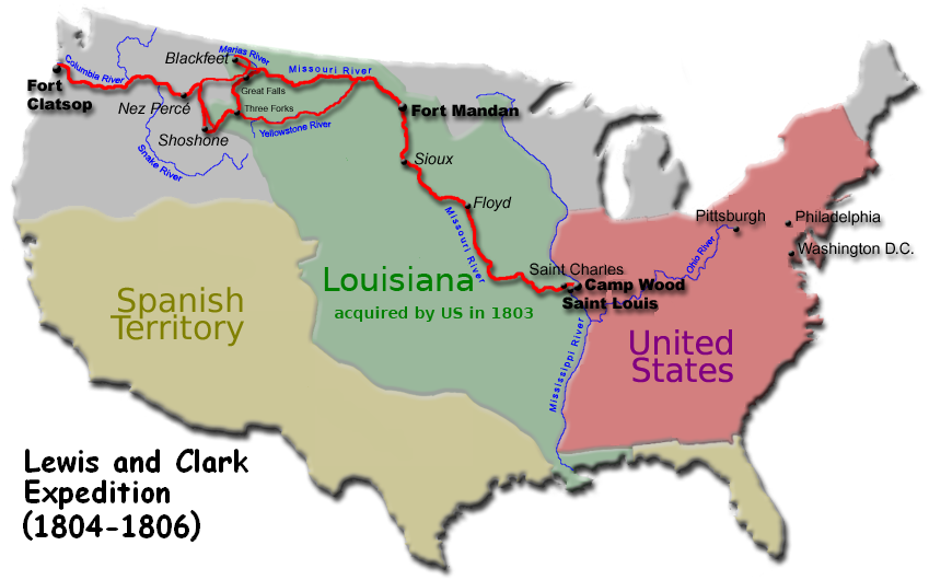 lewis and clark expedition and clark The lewis and clark expedition from may 1804 to september 1806, also known as the corps of discovery expedition, was the first american expedition to cross what is now the western portion of the united states.
