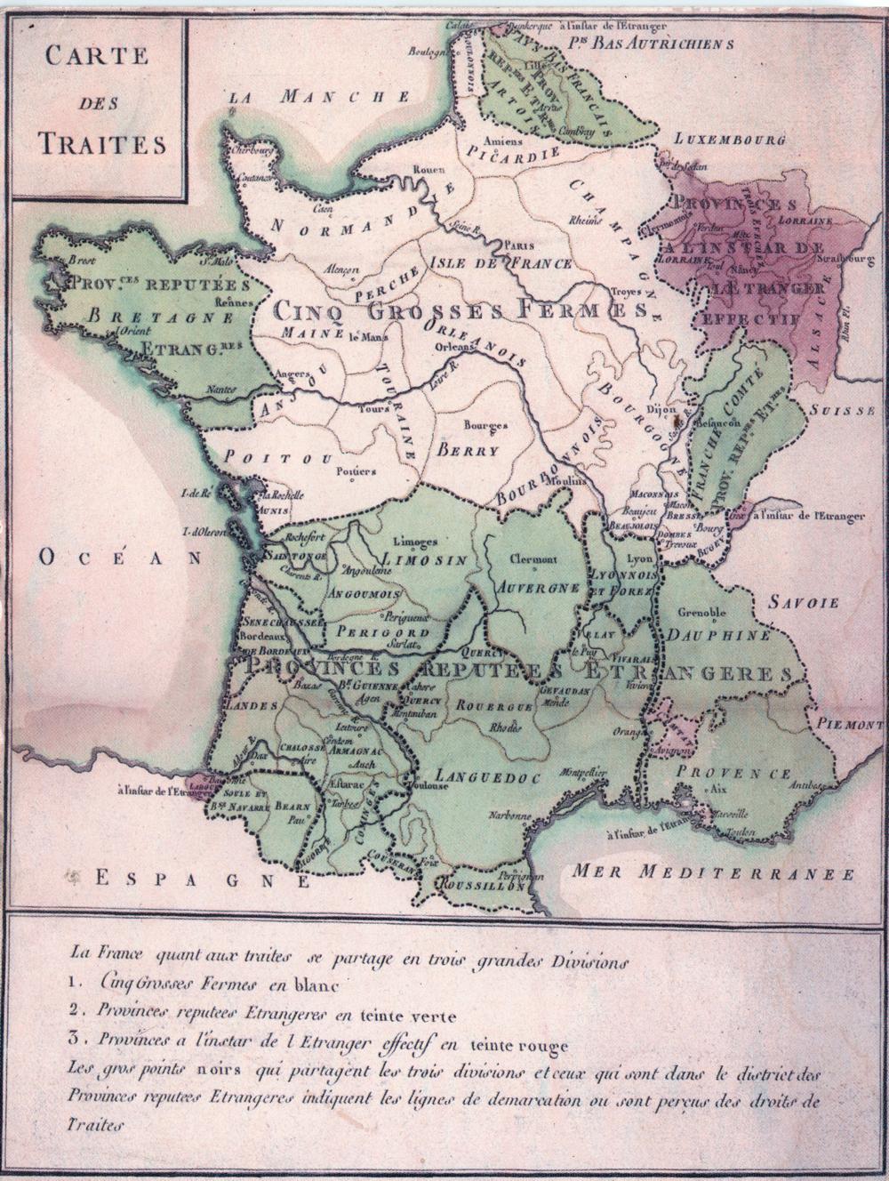 Language and local identity Carte_des_Traites_1732
