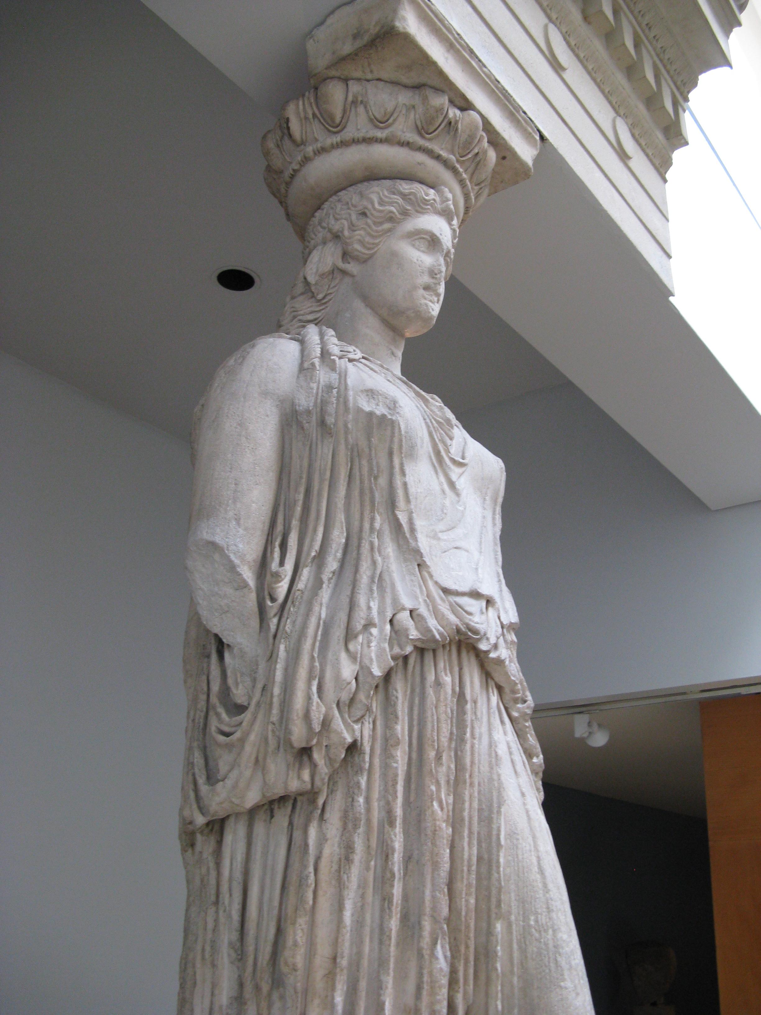 file caryatid erechtheum british museum 4 jpg wikimedia commons